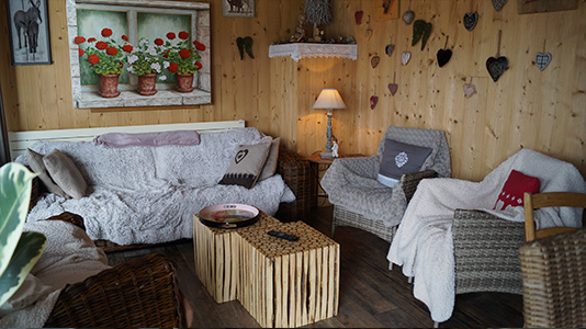 Salon commun des Chambres d'Hôtes Jura